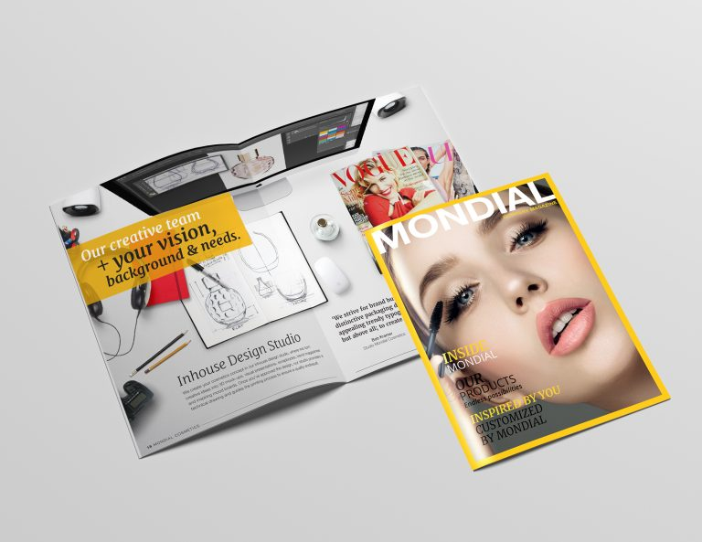 A4 Portrait Catalog / Magazine Mock-Up - Saddle Stitch
