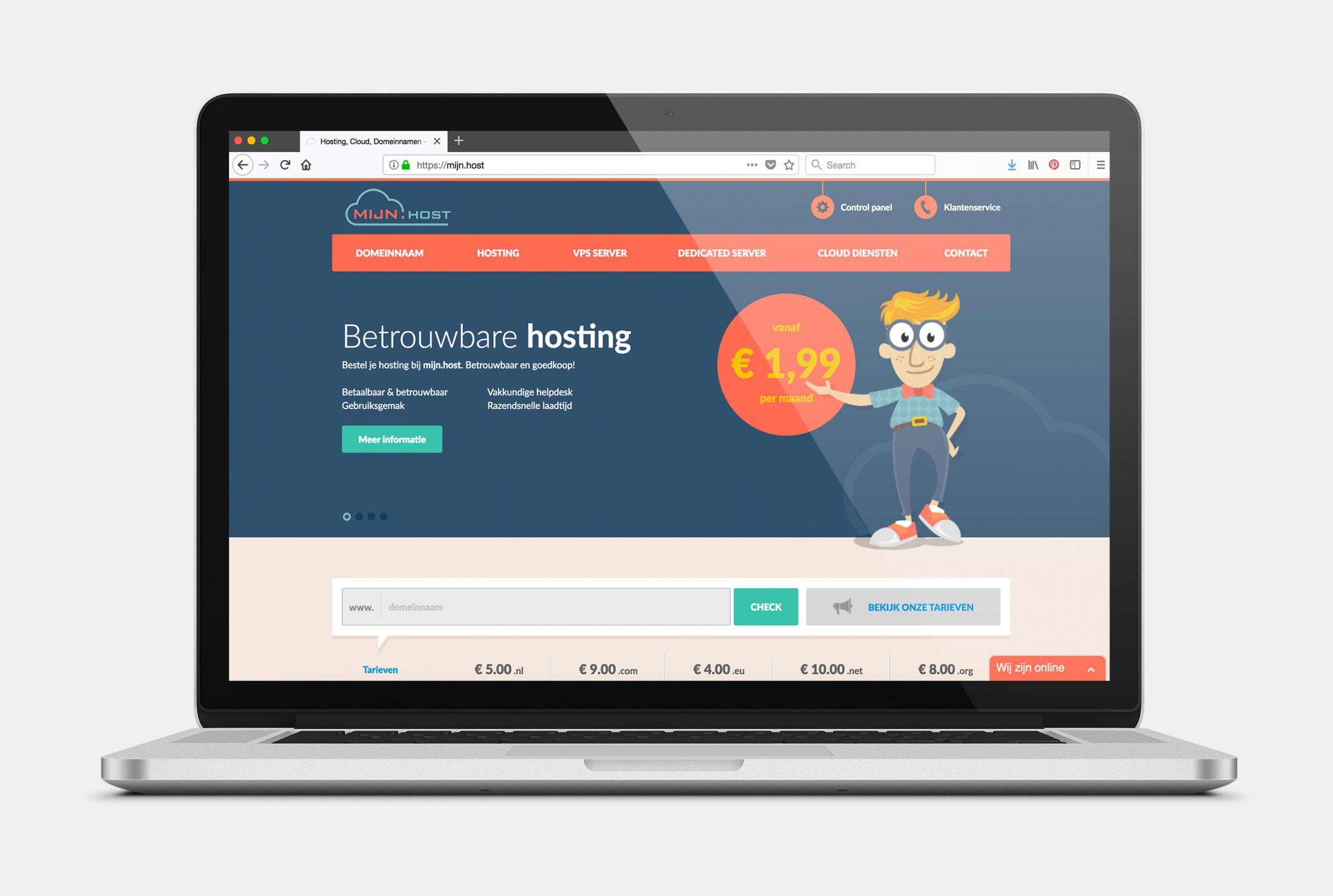 Mijn host web